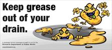 Keep Grease Out of Your Drain Billboard