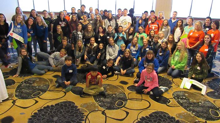 11th Annual Bismarck Tobacco Prevention Youth Summit Lg. Group Photo cr