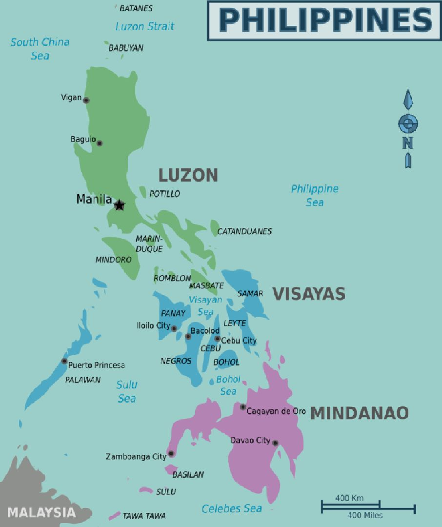 Map of Philippines Image credit: Cacahuate