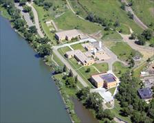 Aerial view Bismarck Water Treatment Plant