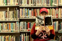 Photo of a teen reading